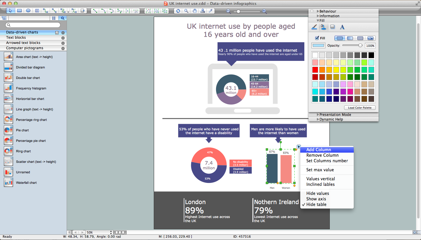 Data-driven Infographics Solution for Maс OS X