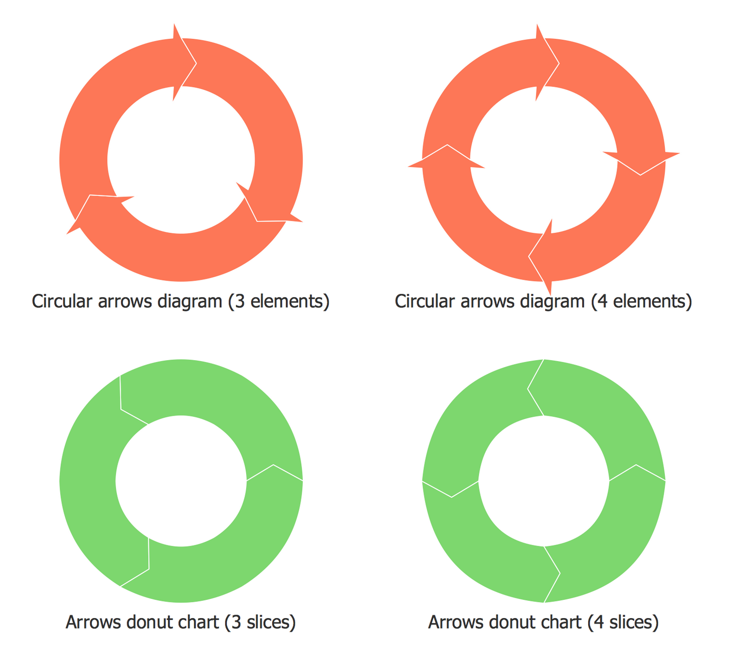 Design Elements — Basic Circular Arrows Diagrams