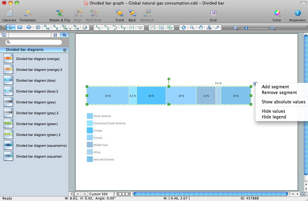 Basic Divided Bar Diagrams Solution for Apple OS X