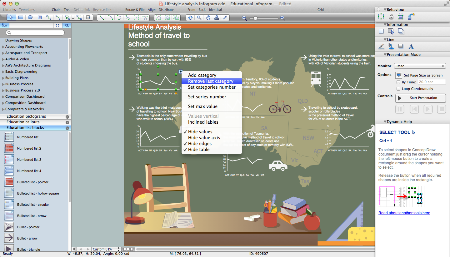 Education Infographics Solution for Mac OS