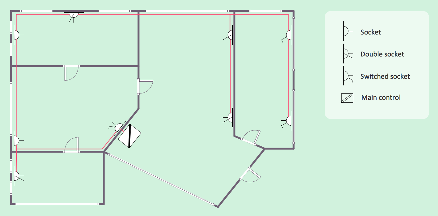 Electrical Layout Plan Of Residential Building Best Secret Wiring House Electric Diagram Home Branch Circuits And Telecom Plans Solution Conceptdraw Com Construction Philippines