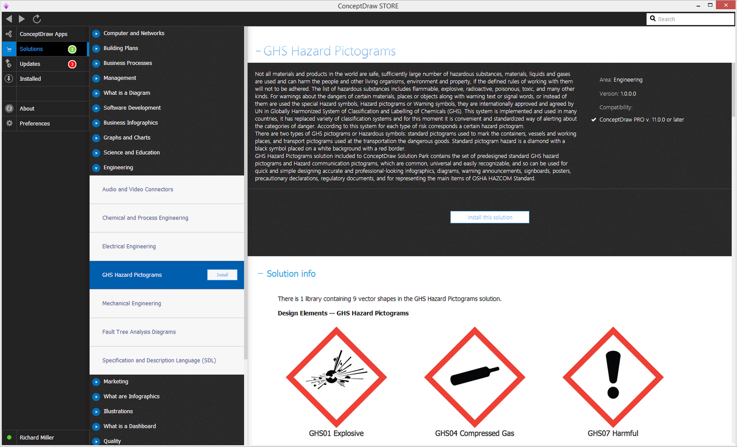 GHS Hazard Pictograms Solution - Install