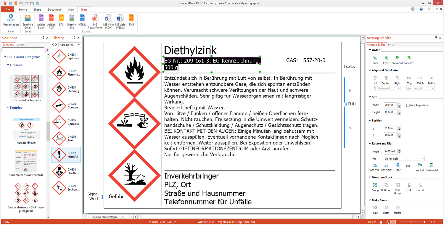 GHS Hazard Pictograms Solution for Microsoft Windows