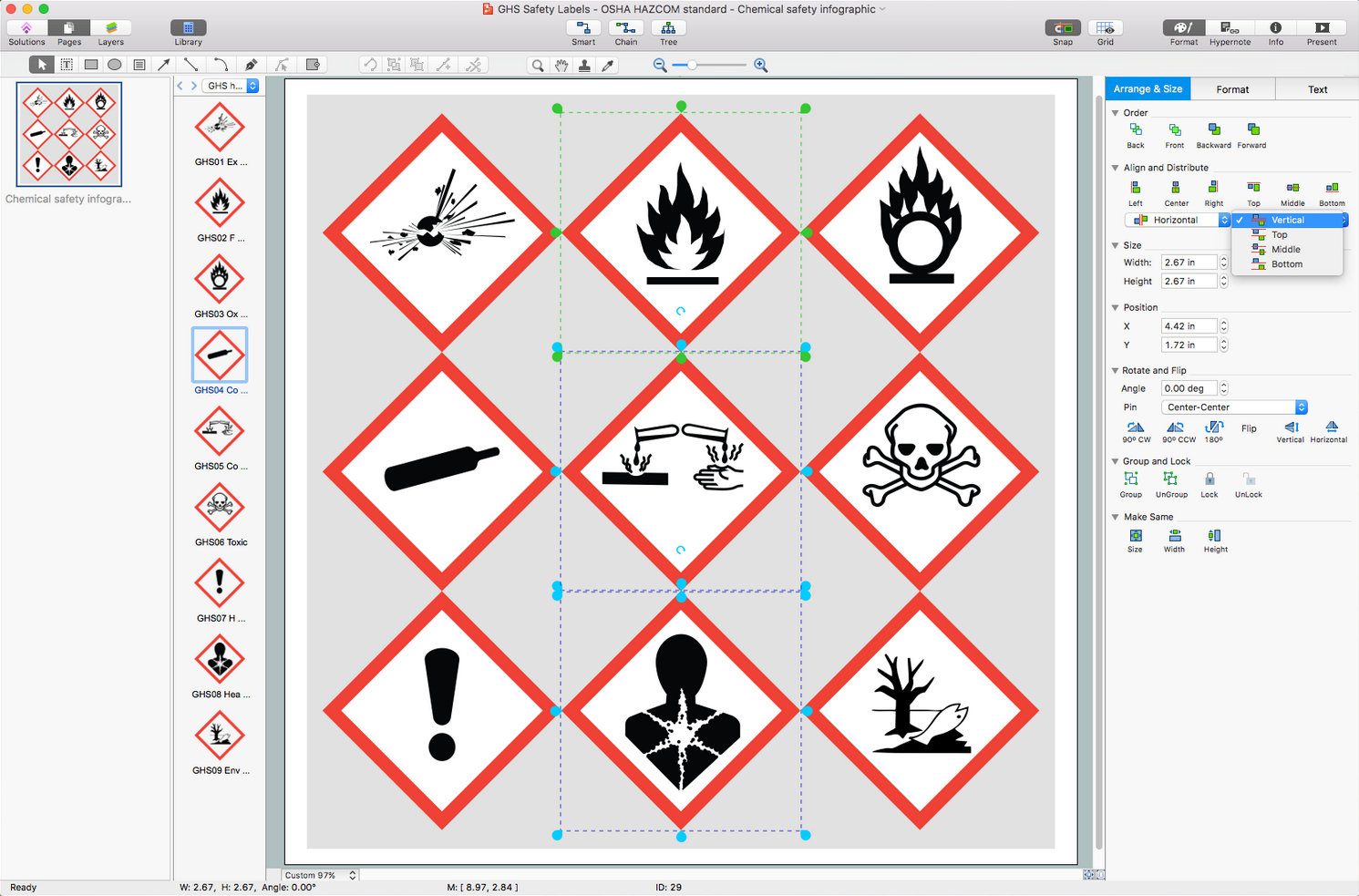 GHS Hazard Pictograms Solution for macOS