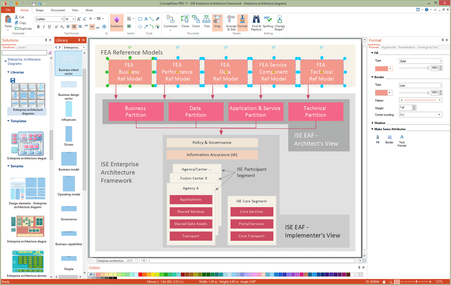 Enterprise Architecture Diagrams Solution for Microsoft Windows