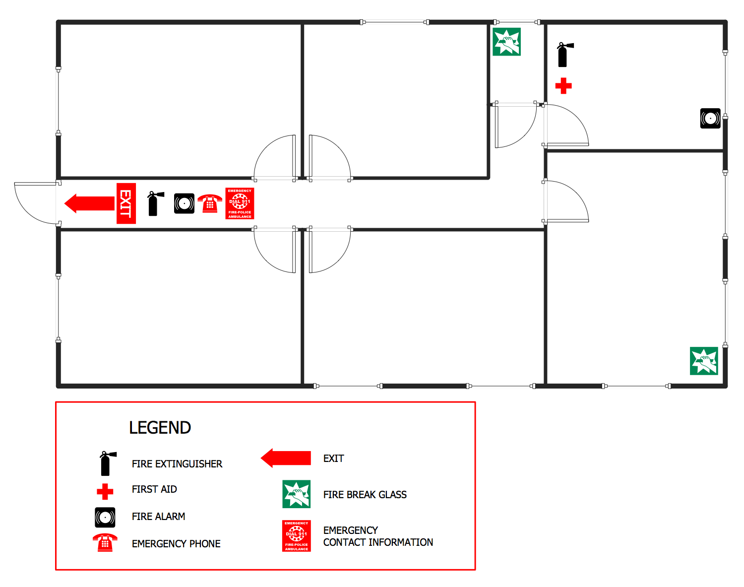 building wiring diagram with symbols fire and emergency plans solution | conceptdraw.com #14