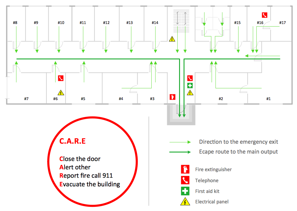 Fire and emergency plans solution conceptdraw emergency plan maxwellsz
