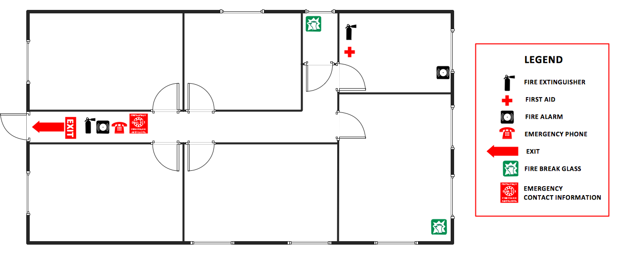 fire evacuation plan template for office fire and emergency plans solution