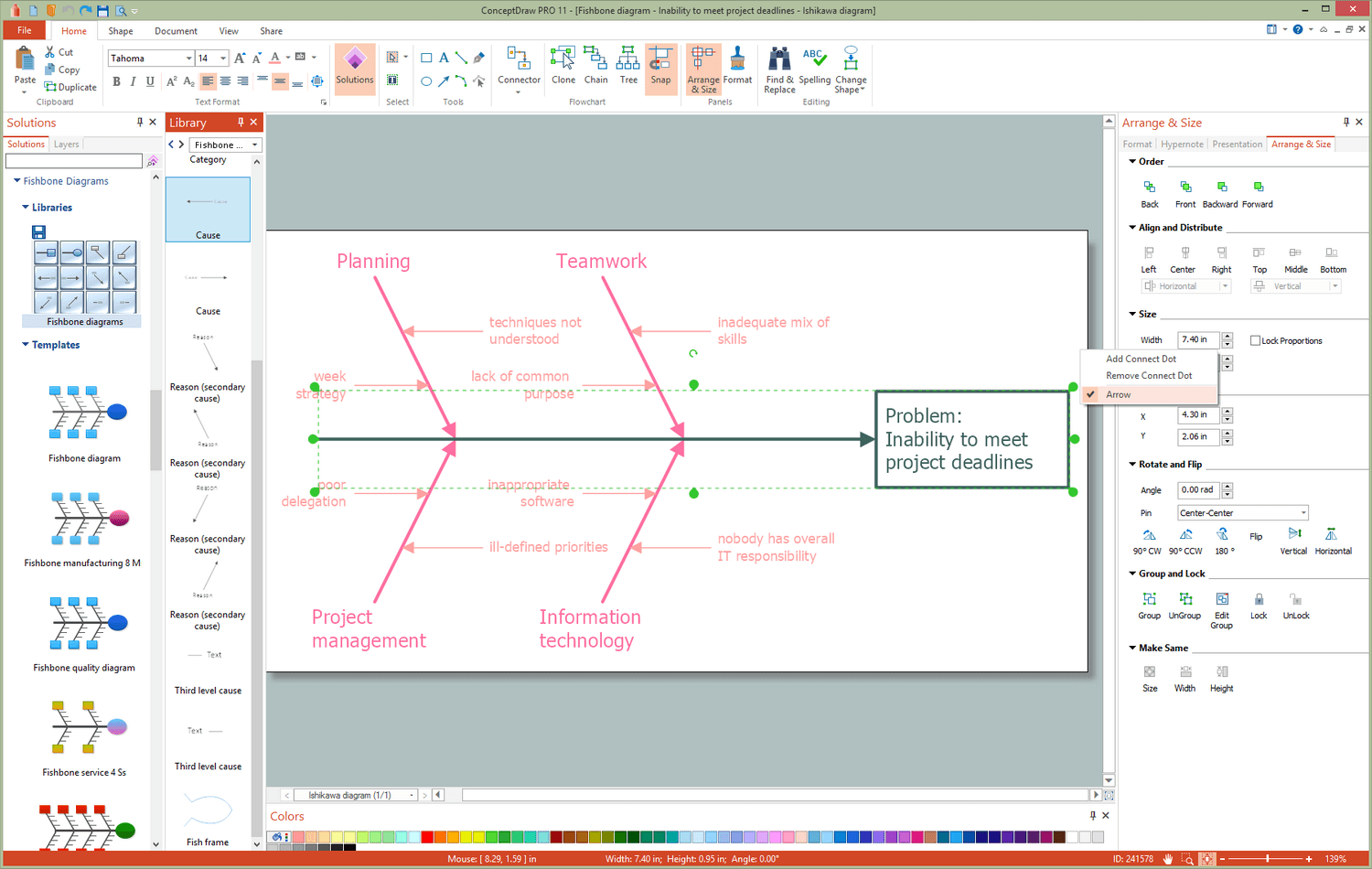 Fishbone Diagrams Solution for Microsoft Windows