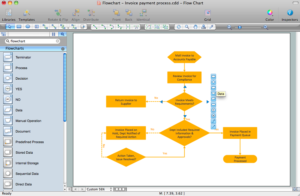 Flowcharts Solution for Mac OS X