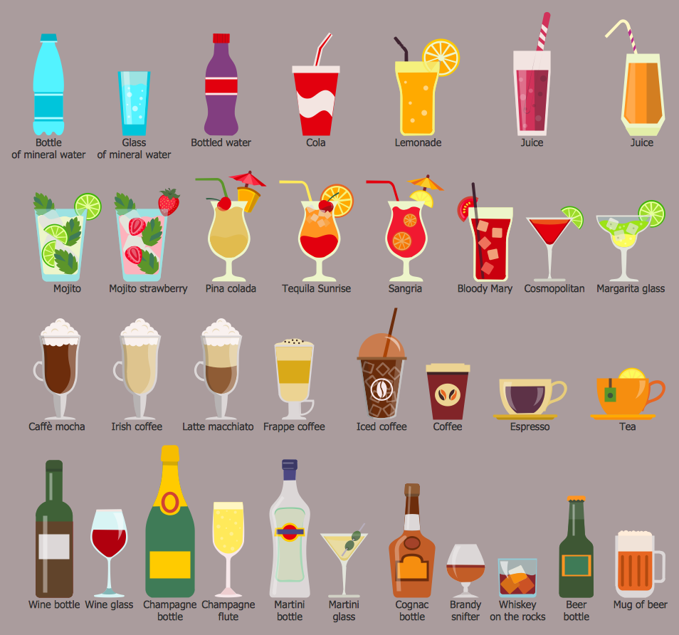 Food Court Design Elements  — Beverages