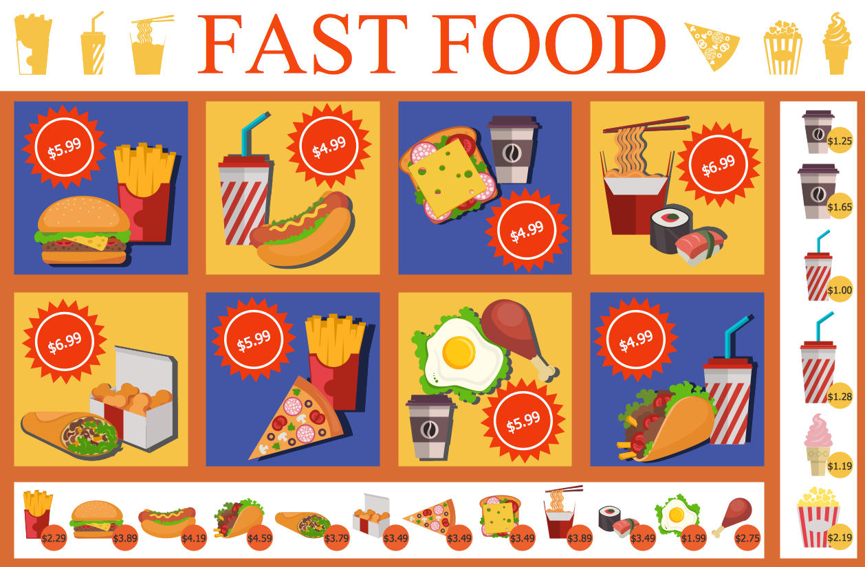 Food court solution conceptdraw