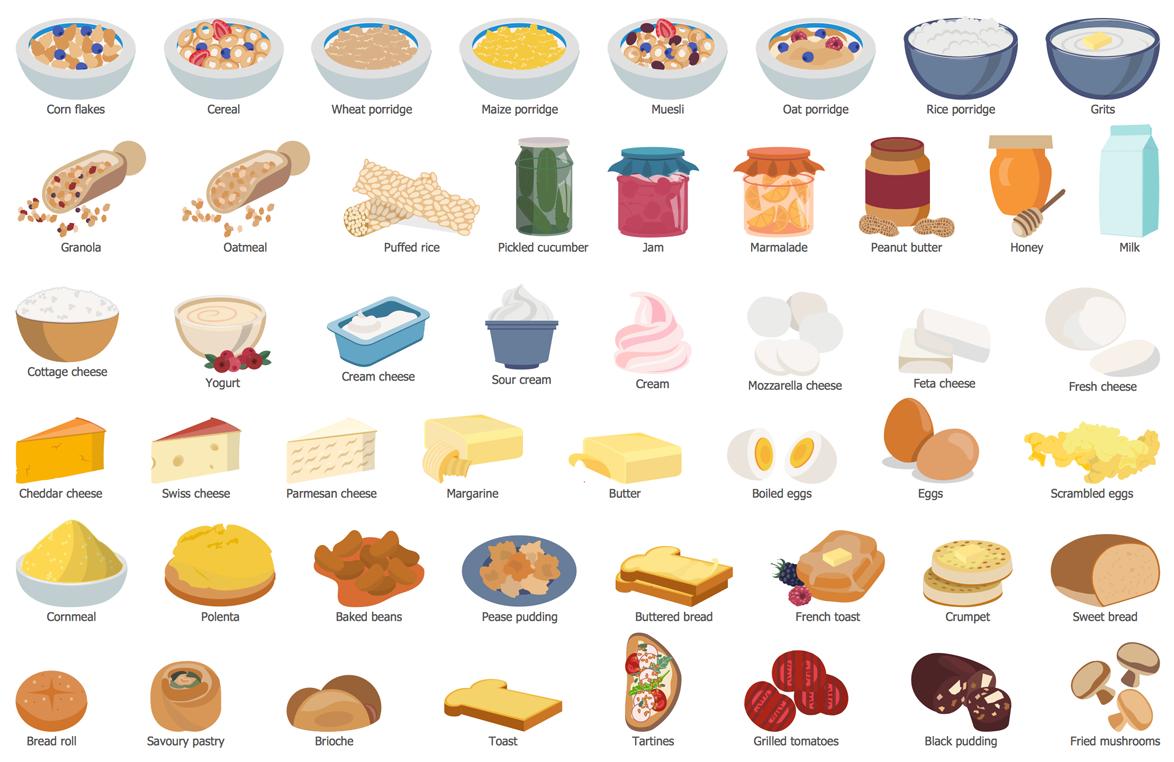 Cooking Recipes Solution Conceptdraw Com