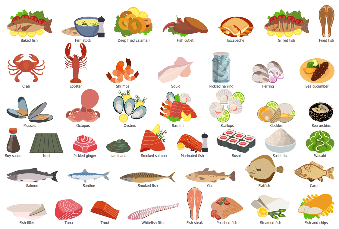 Design Elements — Fish, Seafood, Sushi
