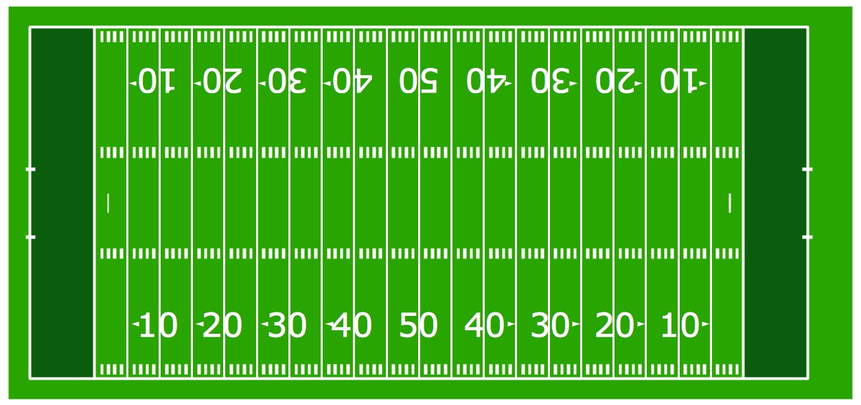 Horizontal Colored Football Field Template