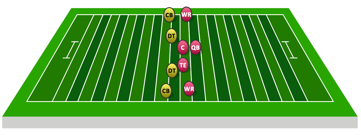 Sideline View Football Field Template