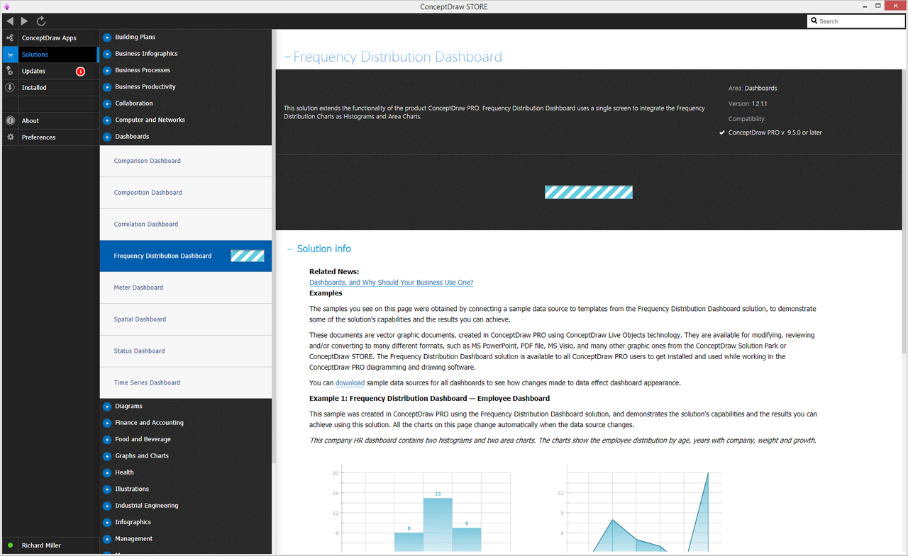 Frequency Distribution Dashboard solution - Install