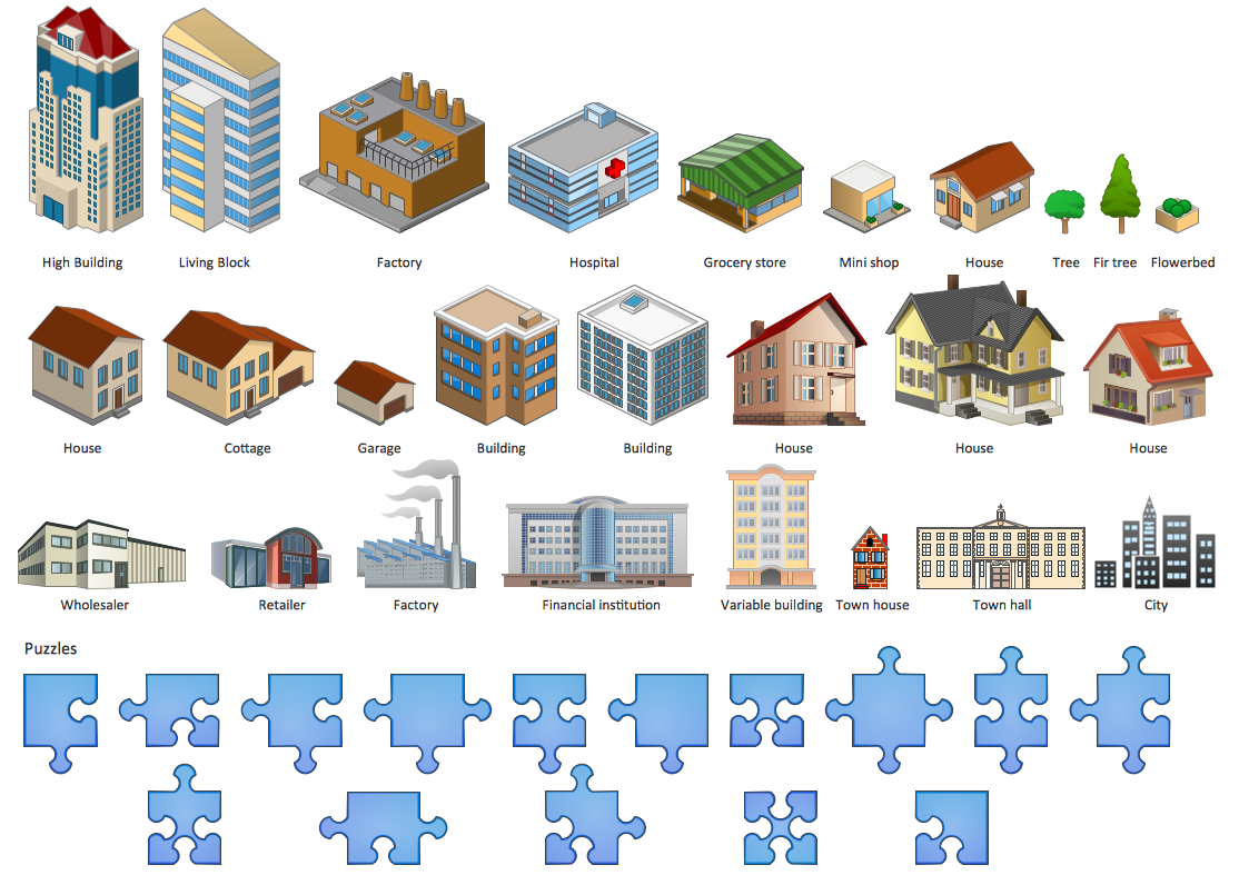 Artwork Solution Basic Household Wiring Clip Art Design Elements Buildings And Puzzles