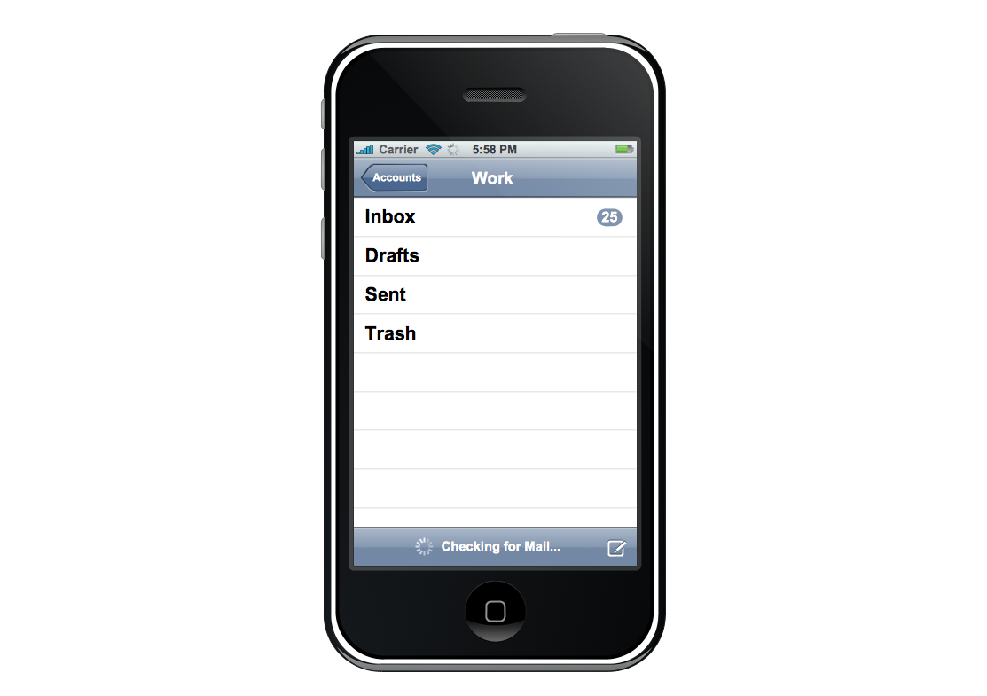 Graphic User Interface – iPhone Activity Indicator View