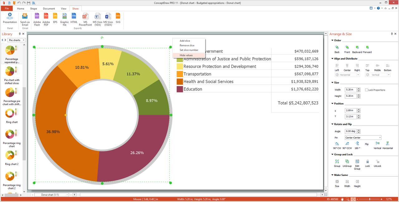 Basic Pie Charts Solution for Microsoft Windows