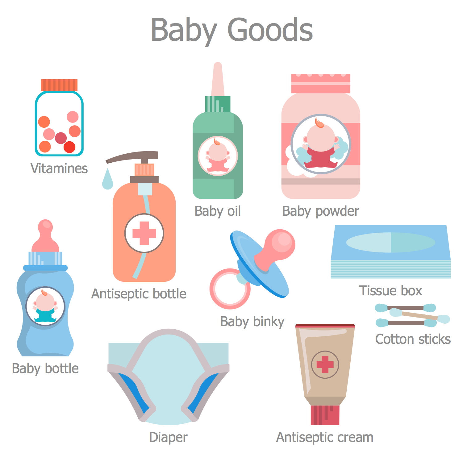 Pharmacy Illustrations - Baby Goods