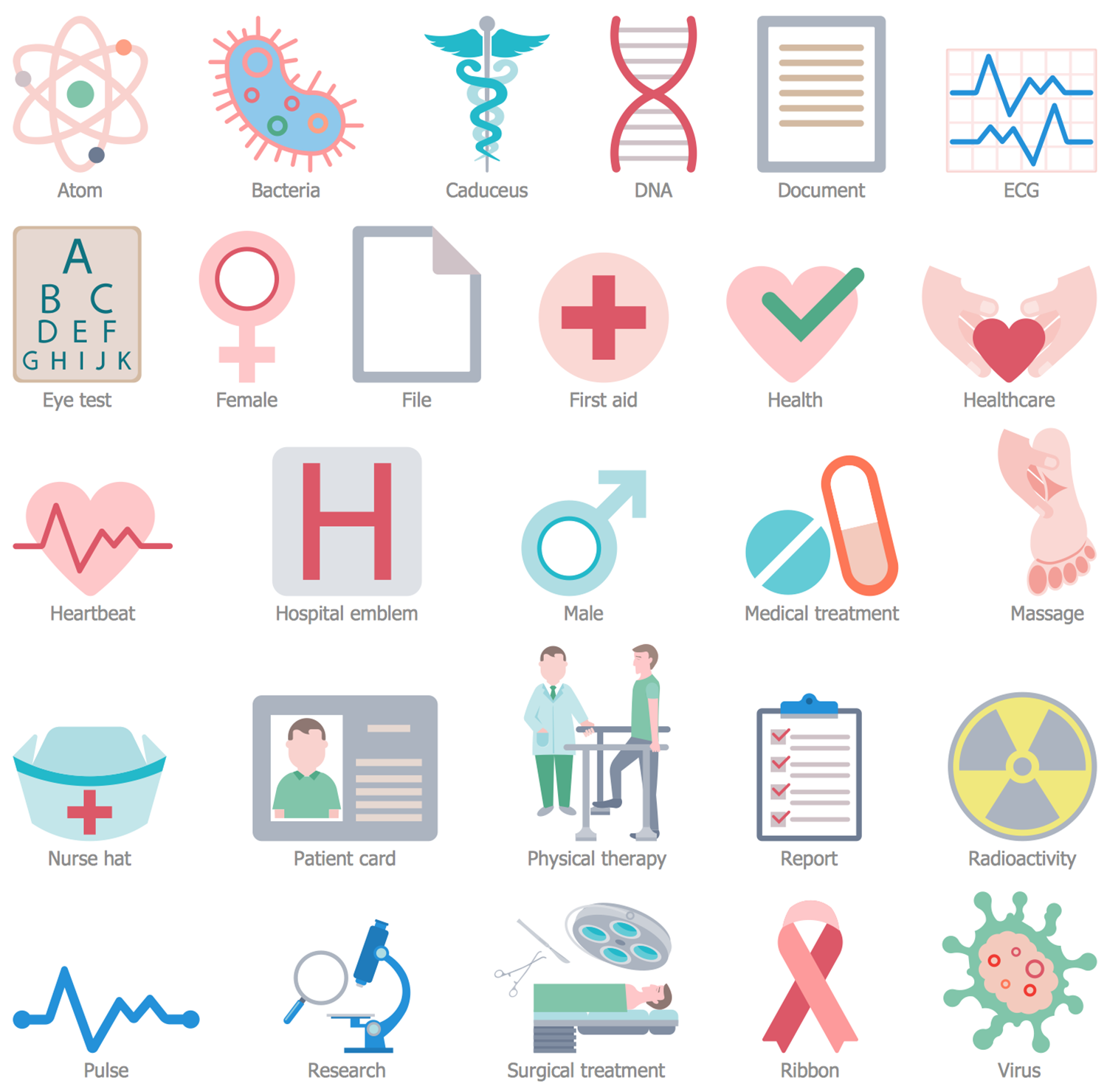 Design Elements — Healthcare Pictograms