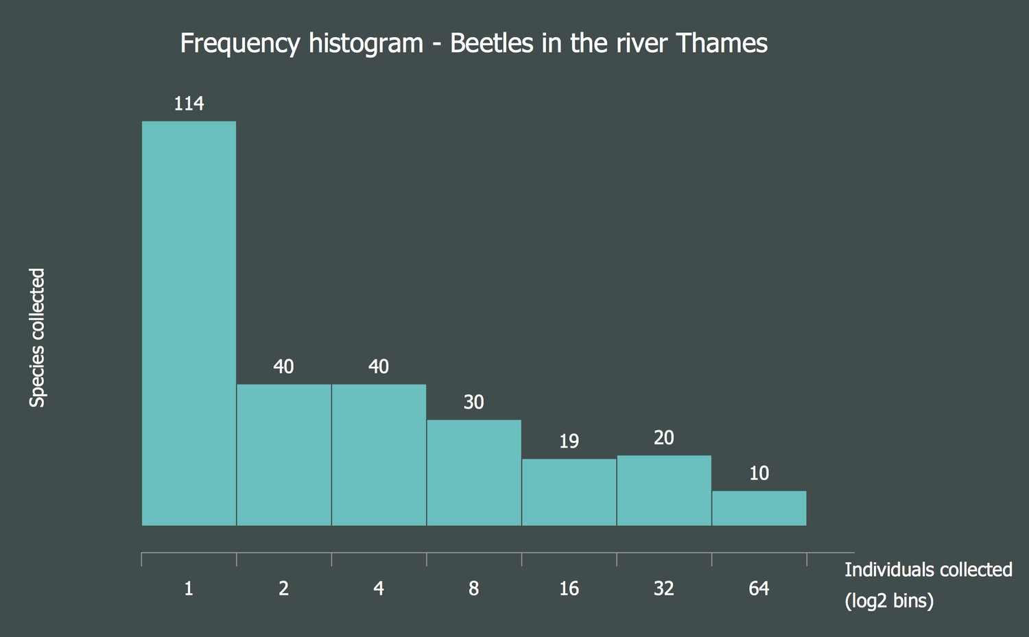 Histogram — Beetles in the River Thames