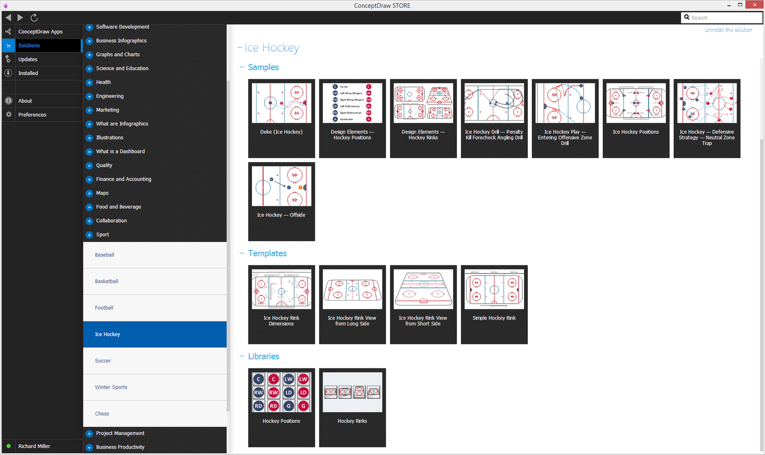 Ice hockey solution conceptdraw ice hockey solution start using malvernweather Images