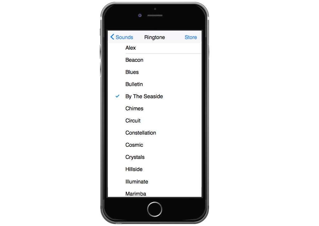 iPhone Graphical User Interface — Settings Ringtone