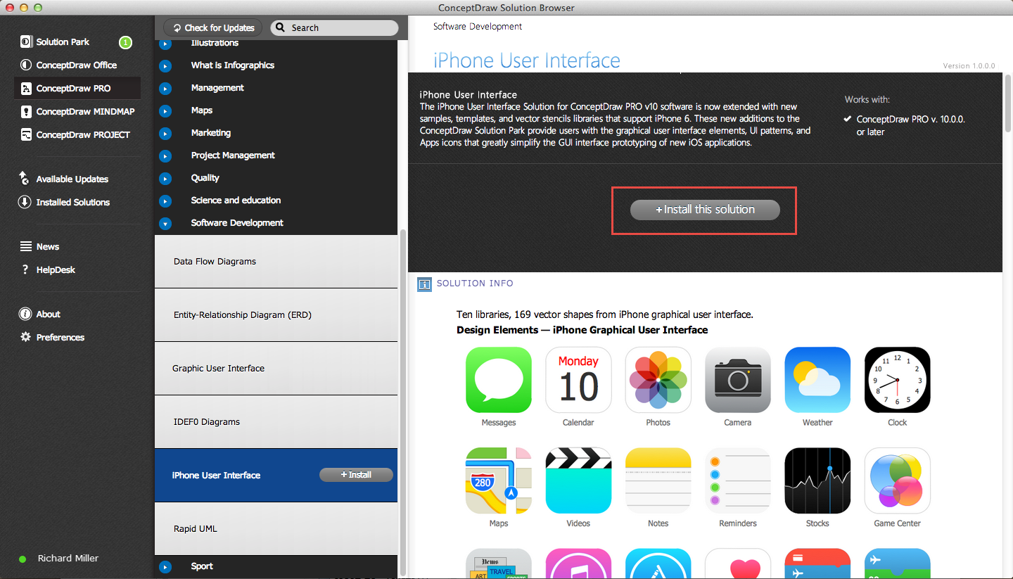 iPhone User Interface Solution — Install