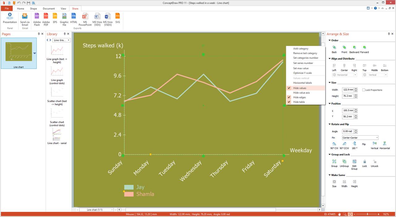 Line Graphs Solution for Microsoft Windows