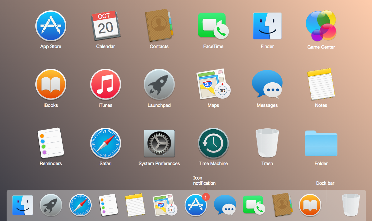 Mac OS X User Interface Design — Yosemite Apps