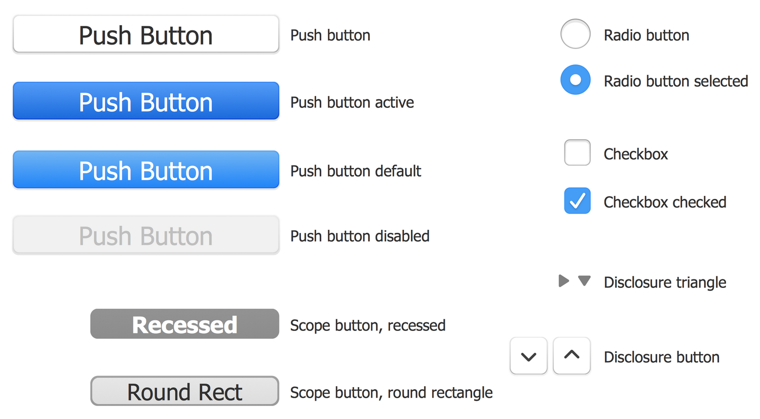 Design Elements — macOS Button Templates