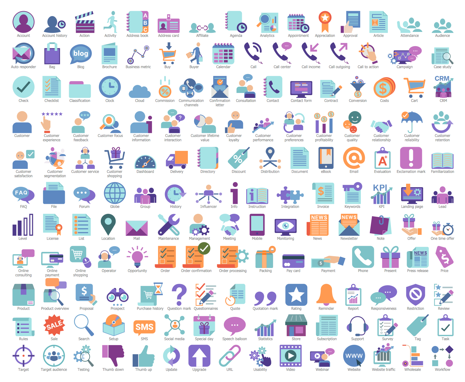 Design Elements — CRM Icons