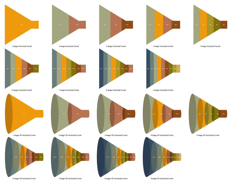 Design Elements — Horizontal Funnels