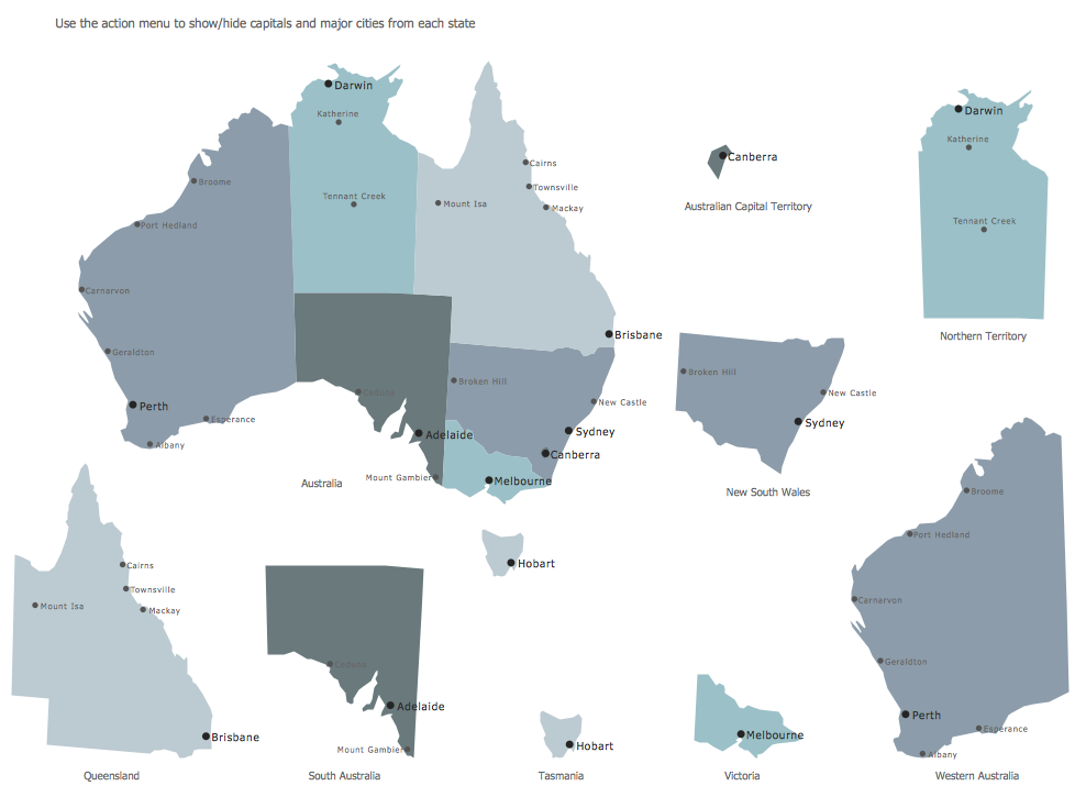 Design Elements — Map Australia