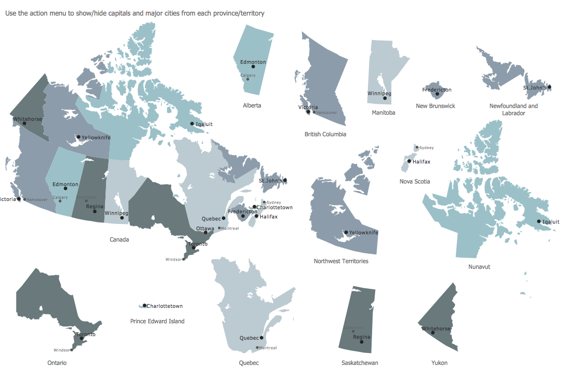 Design Elements — Map Canada