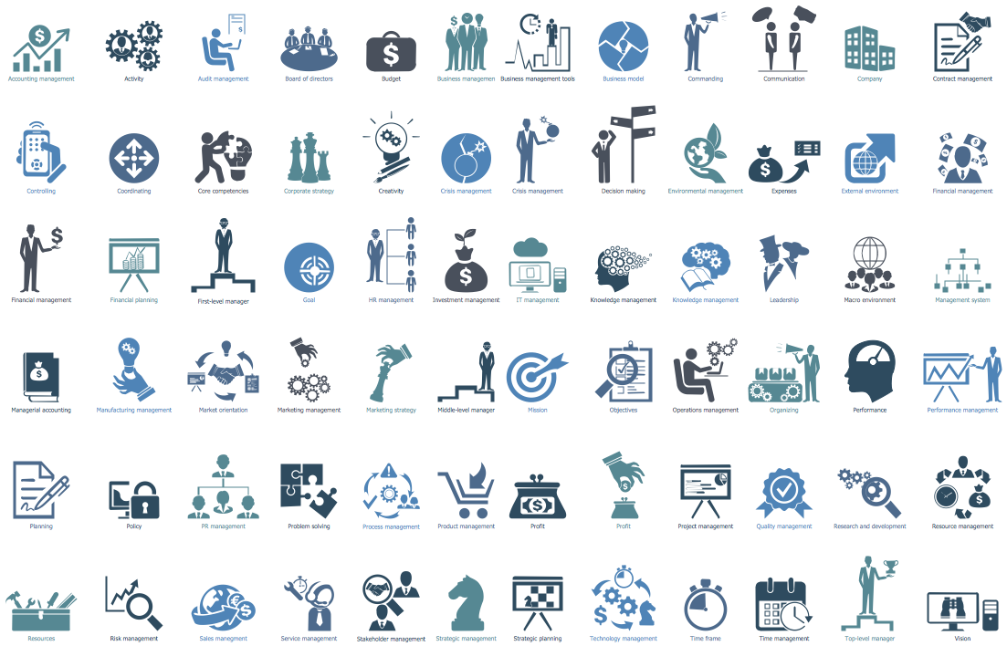 Design Elements — Management Pictograms