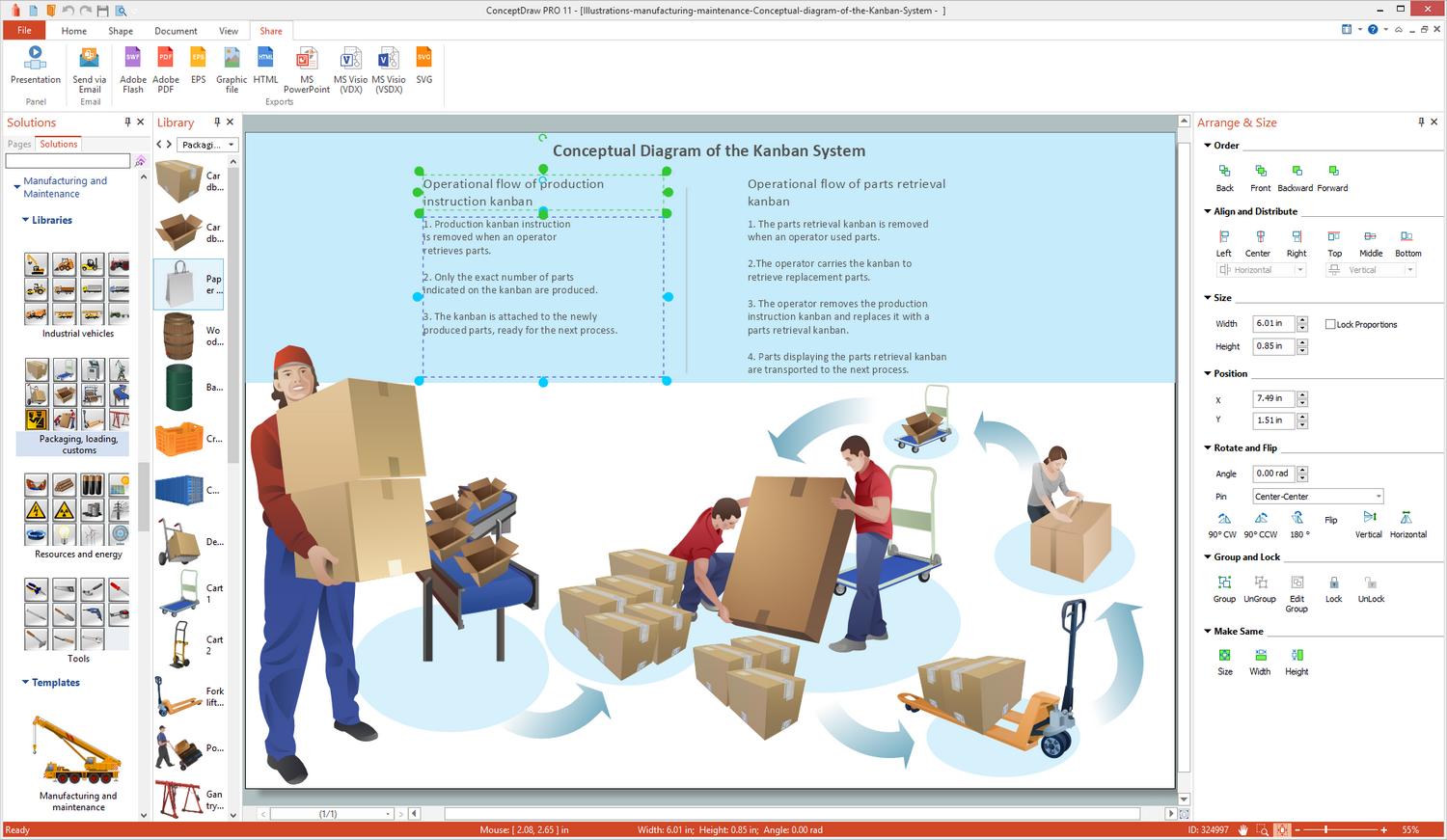 Manufacturing and Maintenance Illustration Solution for Microsoft Windows