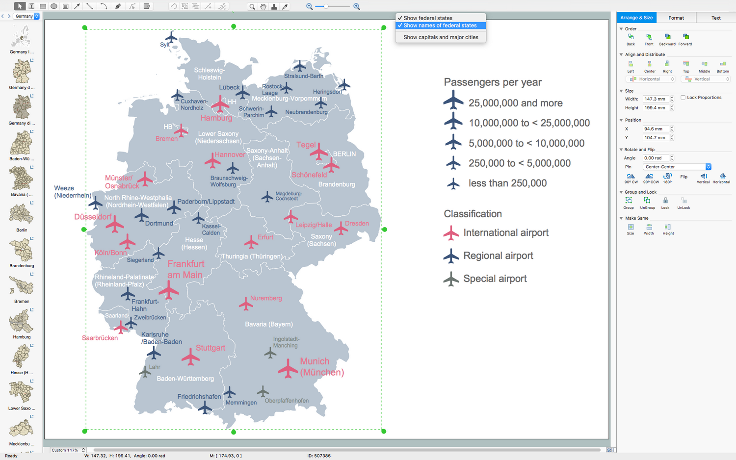 Germany Map Solution for macOS X
