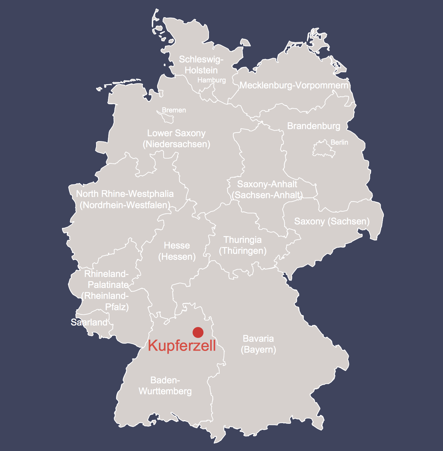 Batrachotomus Germany Localisation Map