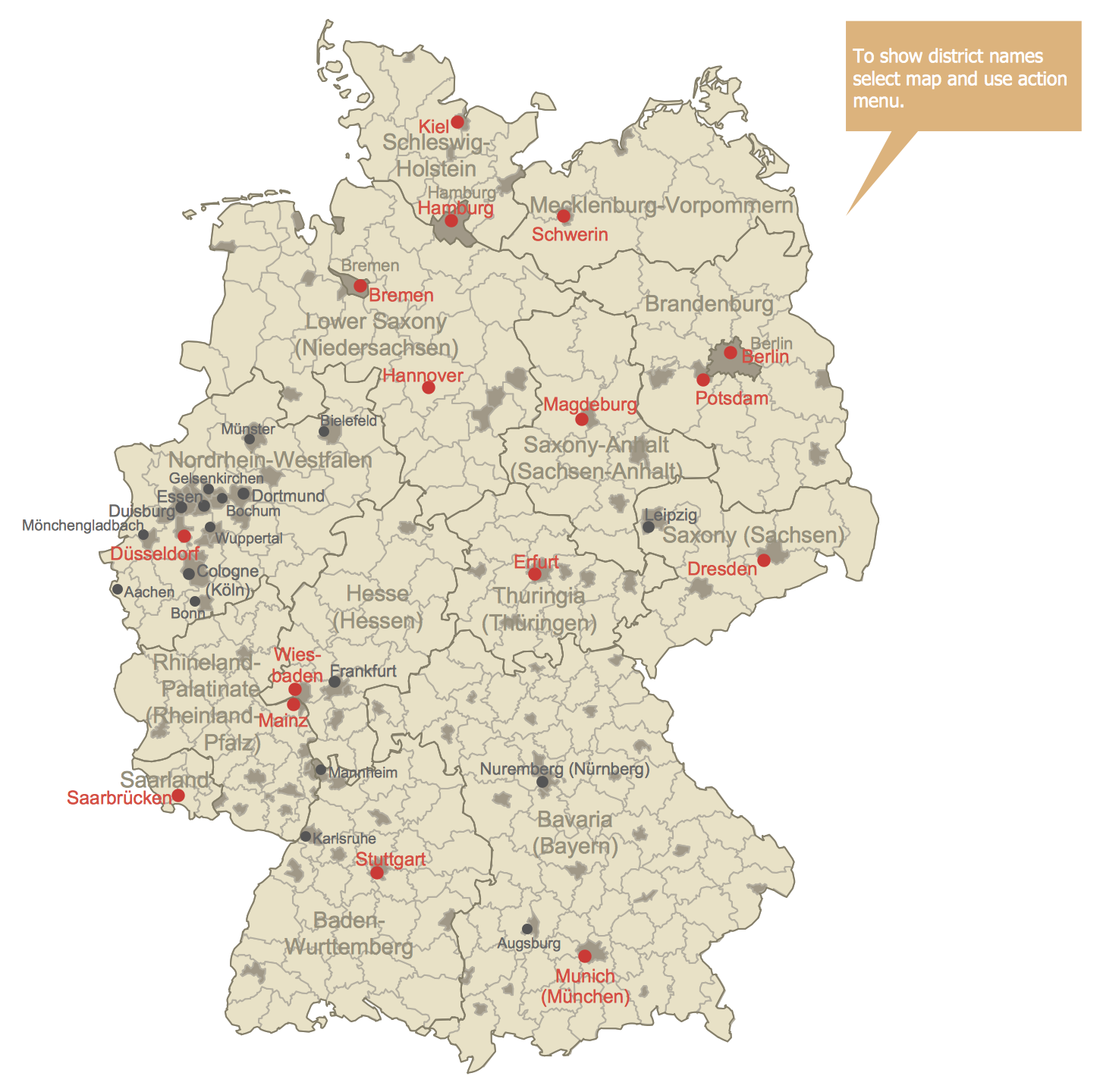 Germany Districts Map