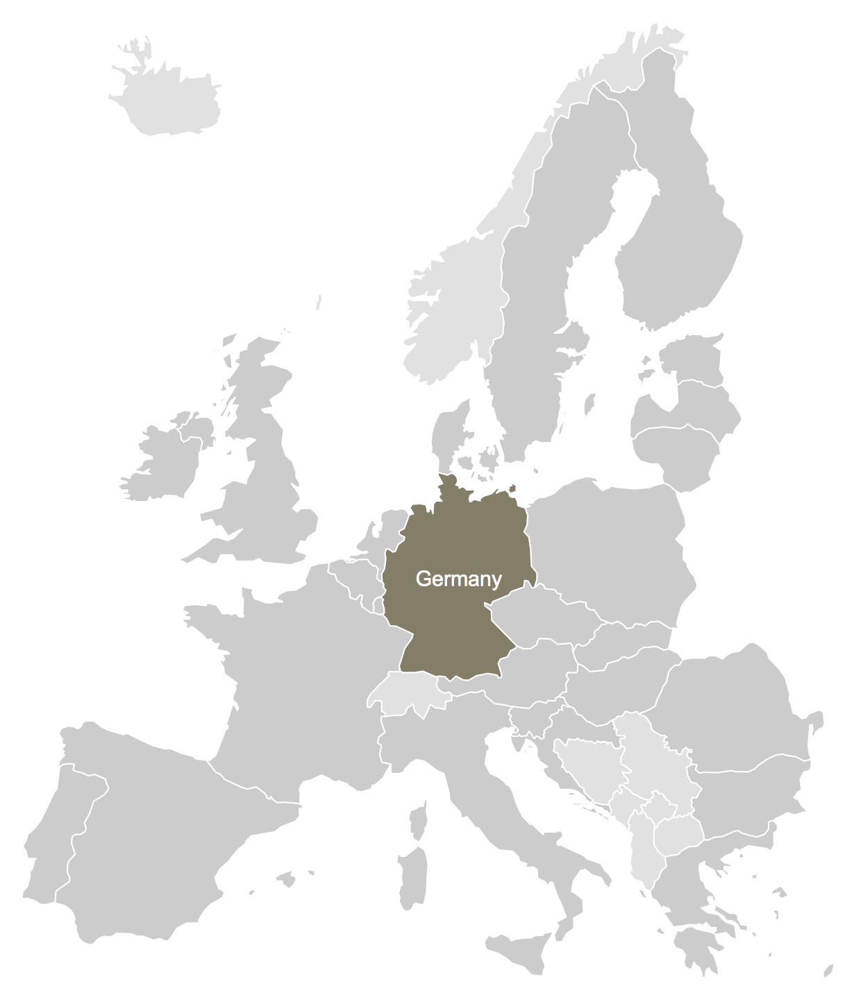 Germany Location Map