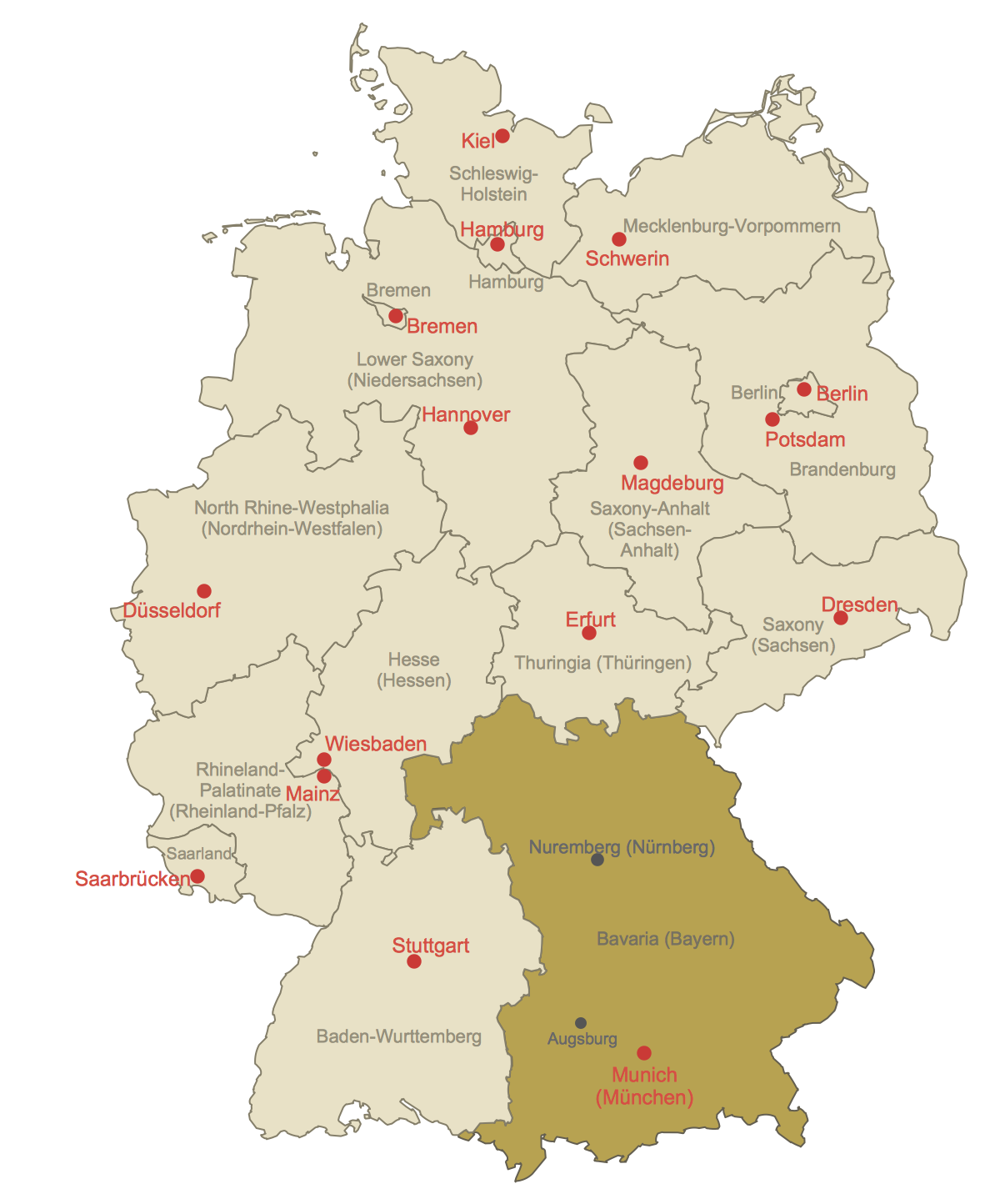 Locator Map of Bavaria