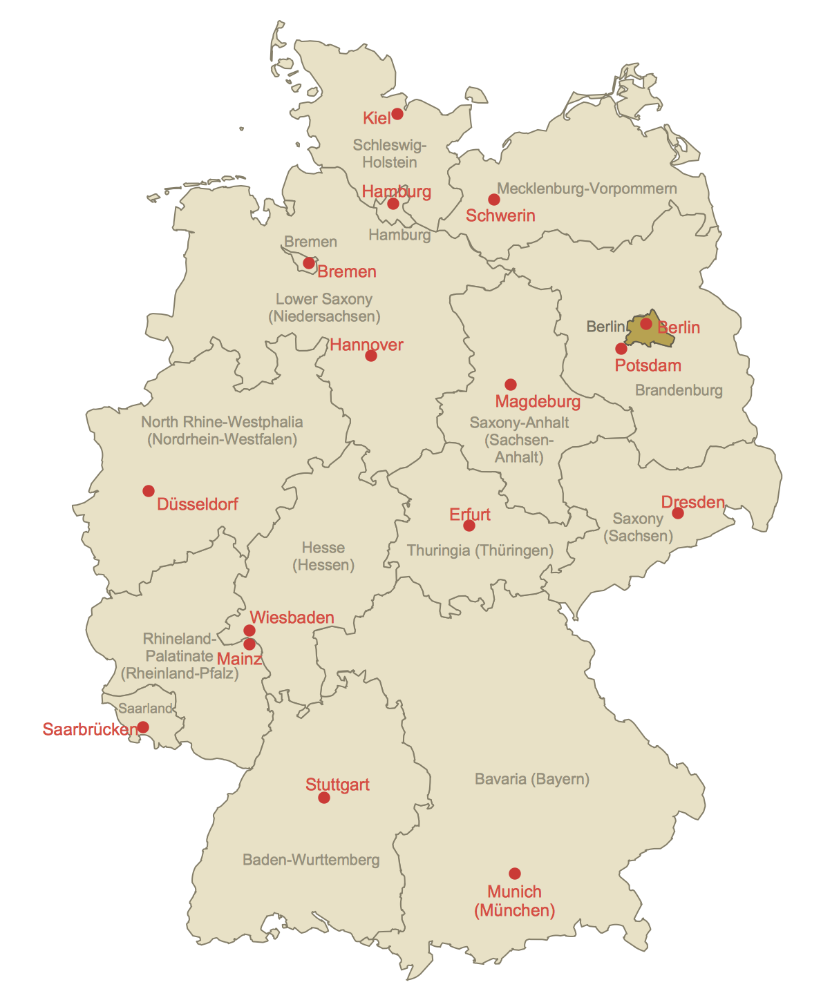 Locator Map of Berlin