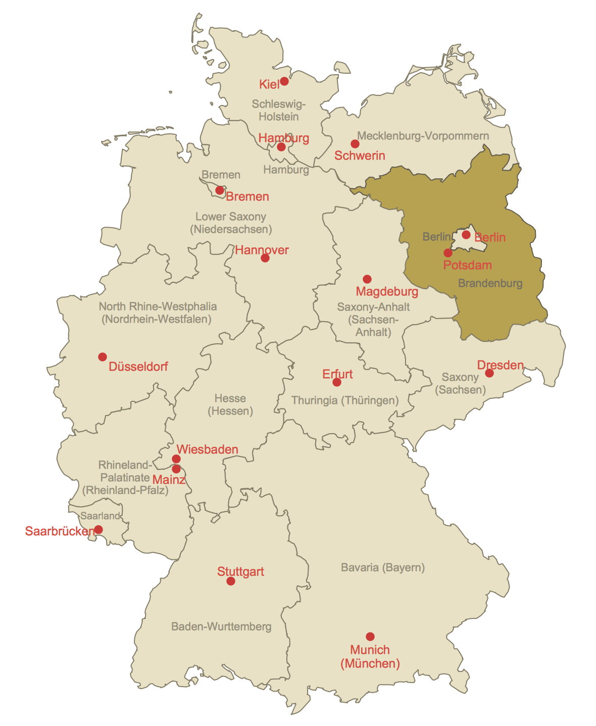 Locator Map of Brandenburg