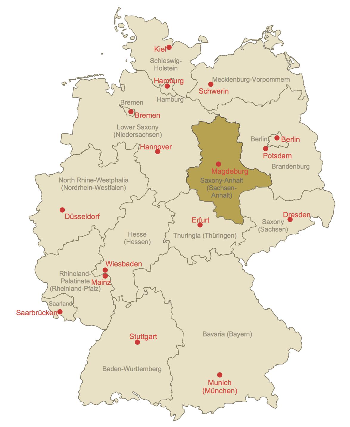 Locator Map of Saxony-Anhalt