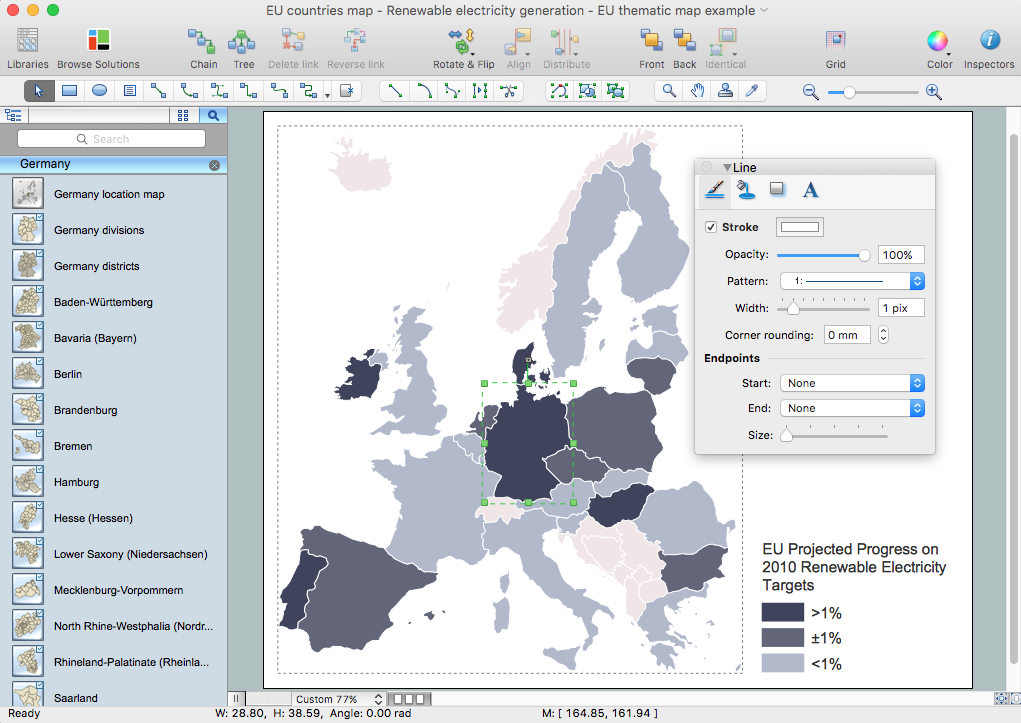 Germany Map Solution for Apple OS X