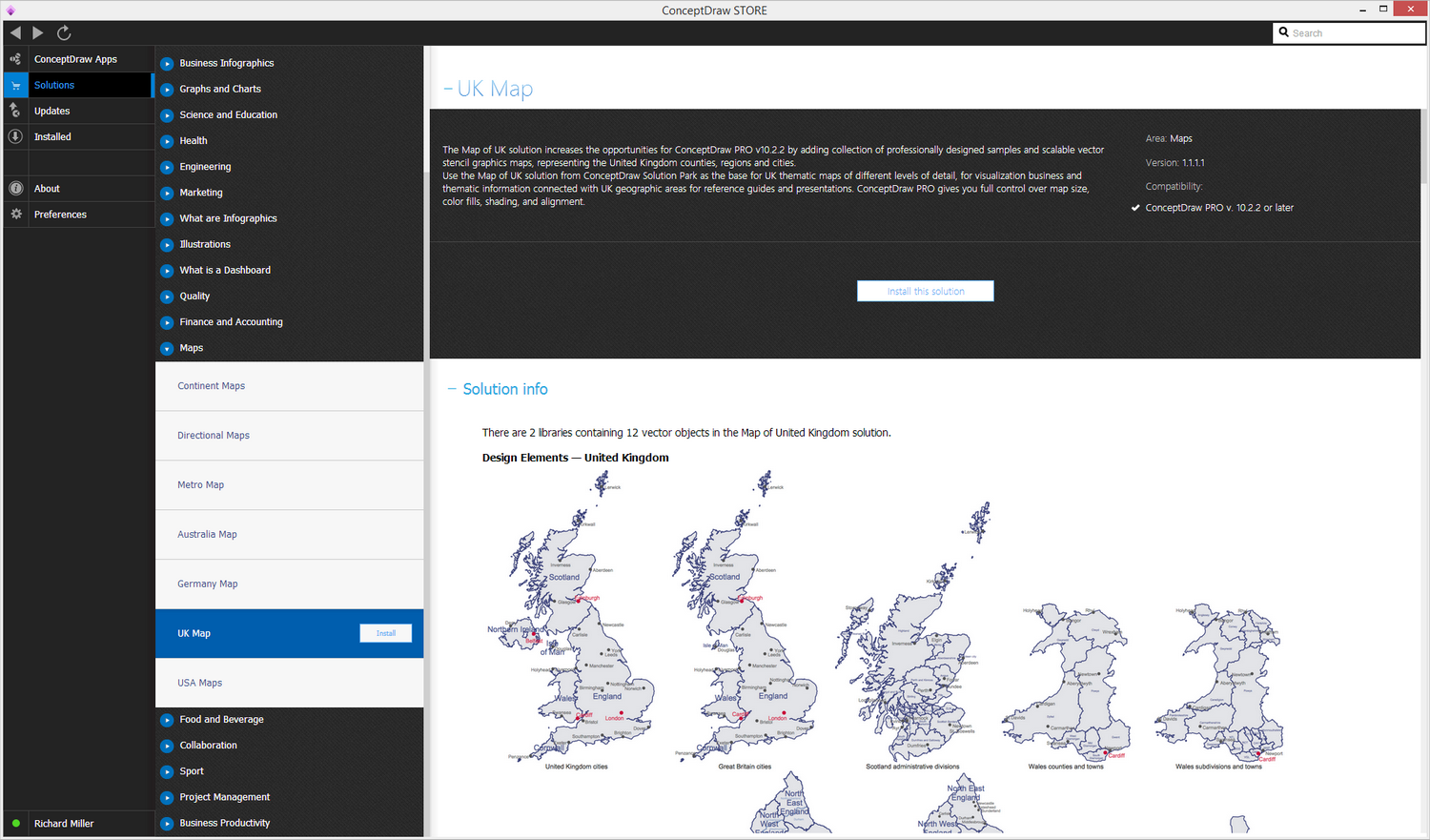 United Kingdom Map Solution - Install