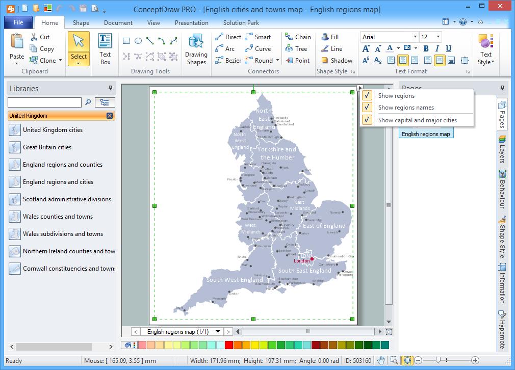 United Kingdom Map Solution for Microsoft Windows